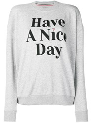 Tommy Jeans 'Have A Nice Day' Sweatshirt Grey