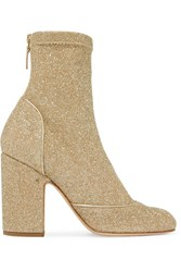 Laurence Dacade Melody Metallic Stretch Knit Boots Gold