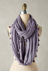 Anthropologie Tasseled Infinity Scarf Lavender