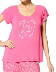 Hue Right Time Sleep Tee Ocean Rose