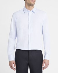 M.Studio Sky Blue Aristide Poplin Classic Collar Slim Fit Shirt