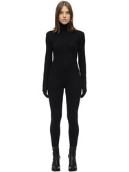 Maison Martin Margiela Viscose Blend Jumpsuit W Gloves Black
