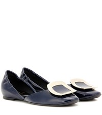Roger Vivier Chips Patent Leather Ballerinas Blue