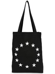 Etudes Embroidered Star Tote Black