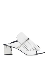 Proenza Schouler Fringe Suede And Leather Mules