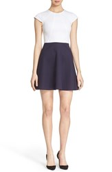 Women's Ted Baker London Colorblock Cap Sleeve Skater Dress