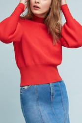 Just Female Alma Knit Pullover Red