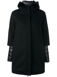 Duvetica Hooded Coat Black