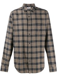 Closed Check Flannel Shirt Brown