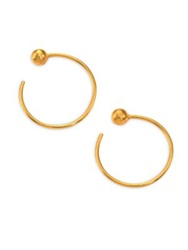 A Peace Treaty Dore Ball Reverse Hoop Earrings 0.75 Gold