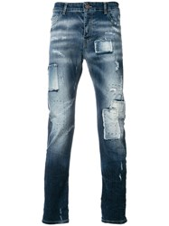 Frankie Morello Light Wash Fitted Jeans Blue