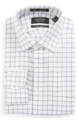 Nordstrom Men's Big And Tall Men's Shop Smartcare Tm Traditional Fit Check Dress Shirt Silver Filigree