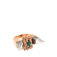 Mawi Double Deco Fang Ring