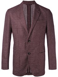Ermenegildo Zegna Woven Blazer Men Silk Linen Flax Cupro Wool 48 Brown