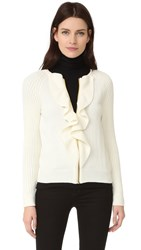 Boutique Moschino Long Sleeve Cardigan White