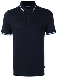 Michael Kors Classic Polo Top Blue