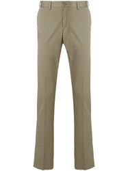 Paul And Shark Tailored Fitted Trousers Green