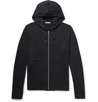 James Perse Supima Cotton Jersey Hoodie Black