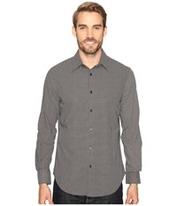Perry Ellis Printed Geometric Circle Shirt Black Men's Clothing