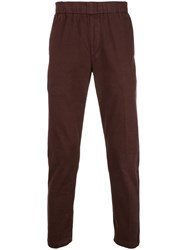 J Brand Elasticated Waist Trousers Red