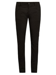 Rick Owens Slim Fit Five Pocket Trousers Black