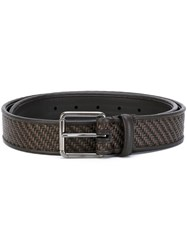 Ermenegildo Zegna Woven Belt Men Leather 110 Brown