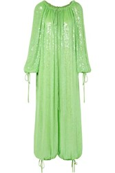Ashish Sequined Georgette Jumpsuit Green