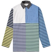 J.W.Anderson Jw Anderson Long Sleeve Patchwork Rugby Jersey Polo Shirt Purple