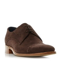 Barker Apollo Punched Toe Cap Derby Shoes Medium Brown