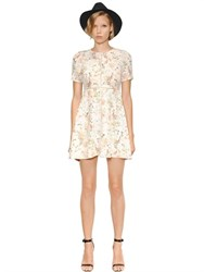 The Kooples Botanic Print Silk Crepe De Chine Dress
