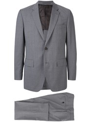 Gieves And Hawkes Pinstripe Suit Grey