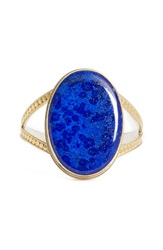 Anna Beck Large Oval Cuff Gold Lapis
