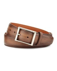 Berluti Venezia Leather Belt Tobacco