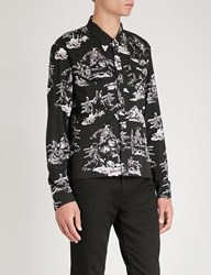 The Soloist Western Print Cotton And Silk Blend Shirt Horse Pt