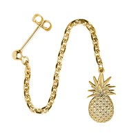 Cartergore Gold Pineapple Single Long Drop Earring