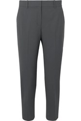 Theory Treeca Stretch Wool Tapered Pants Navy