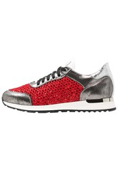 Noclaim Glory 68 Trainers Tecno Glitter Rosso Red