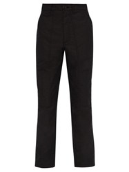 Givenchy Mid Rise Cotton Blend Cargo Trousers Black