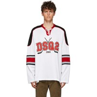 Dsquared2 White Jersey Hockey Fit T Shirt