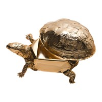 Areaware Turtle Trinket Box Gold