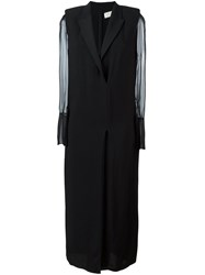 Lanvin Double Breasted Maxi Dress Black