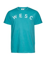 Wesc Relaxed Fit Cotton Tee Dirty Turquoise
