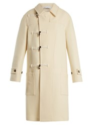 Raey Double Breasted Wool Duffle Coat Ivory