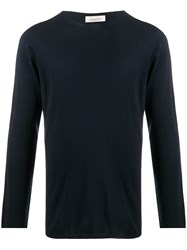 Laneus Lightweight Knit Jumper Blue