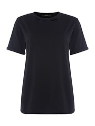 Replay Wrinkled Jersey T Shirt Black
