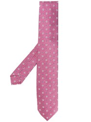 Barba All Over Motif Tie Pink