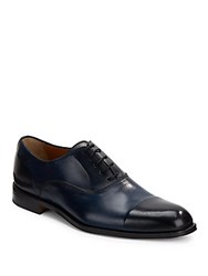 Kenneth Cole Ground Ball Two Tone Dress Shoe Navy