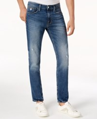 Guess Slim Tapered Fit Ripped Jeans Victory Wash W Destroy