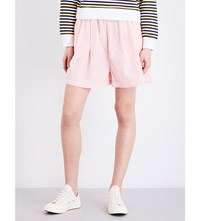 Chocoolate Wide High Rise Shell Shorts Pink
