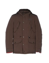 Crust Down Jackets Dark Brown